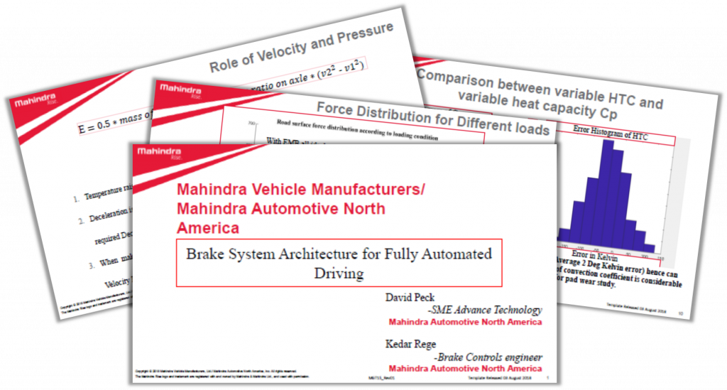 Mahindra Presentation: Brake system architectures for highly automated driving
