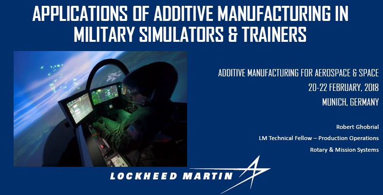 Applications of Additive Manufacturing in Military Simulators & Trainers