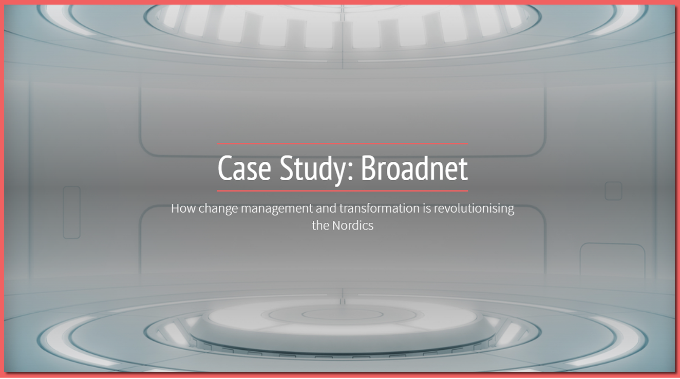 Nordic Business Transformation 2018 - spex - Broadnet Case Study