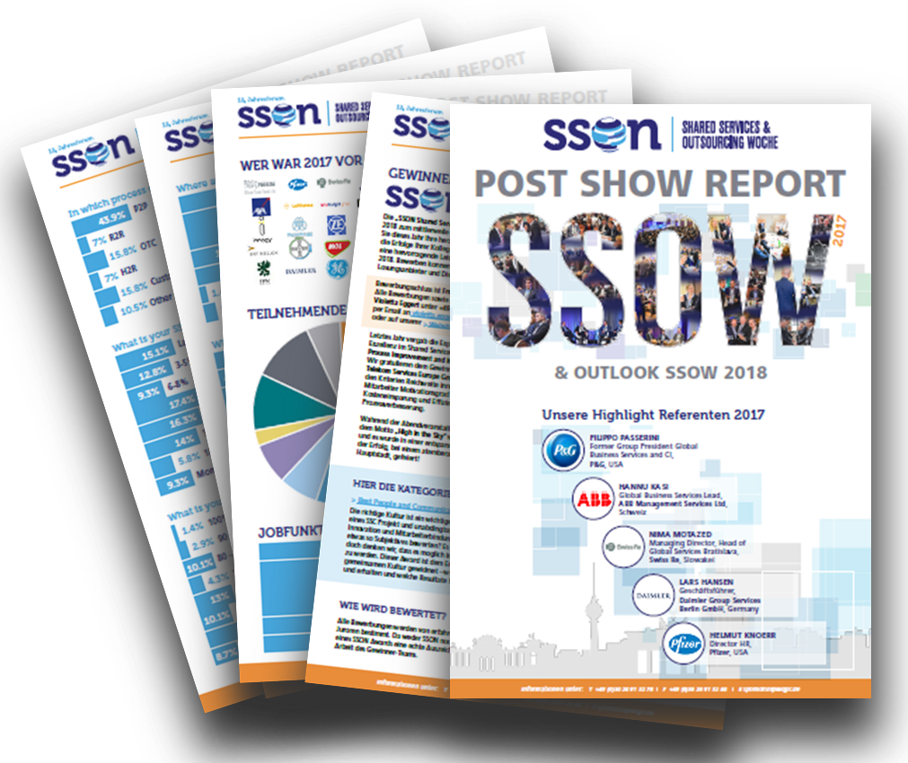 Post Show Report 2017 & Ausblick zum 13. Jahresforum der Shared Services & Outsourcing Woche 2018