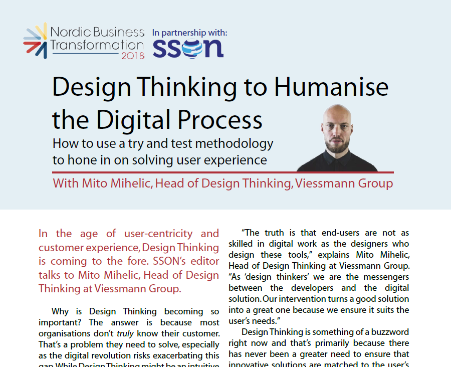 Design Thinking to Humanise the Digital Process