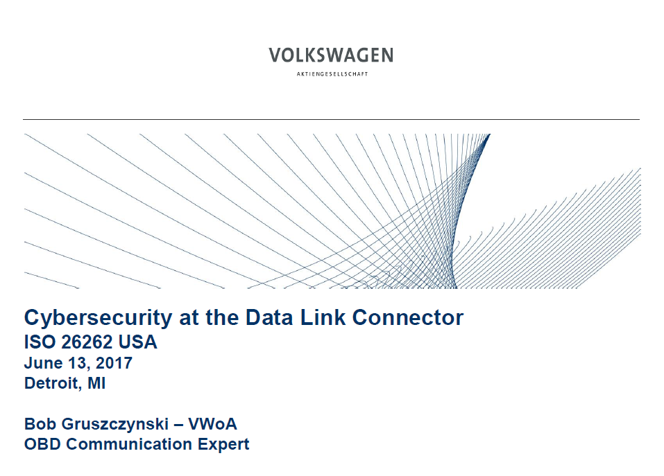 Cybersecurity at the Data Link Connector ISO 26262 USA