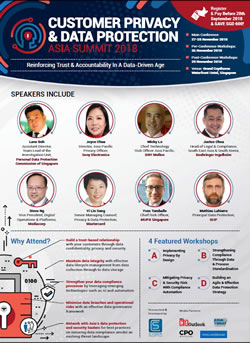 Programme Agenda: Customer Privacy & Data Protection Asia Summit