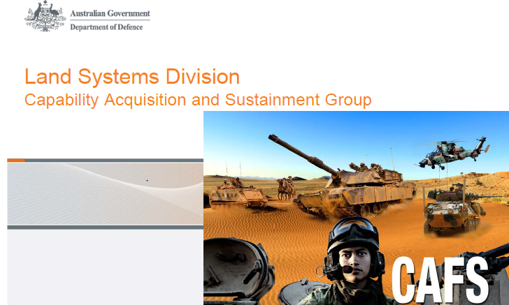 Past Presentation: Land Systems Division Capability Acquisition and Sustainment Group