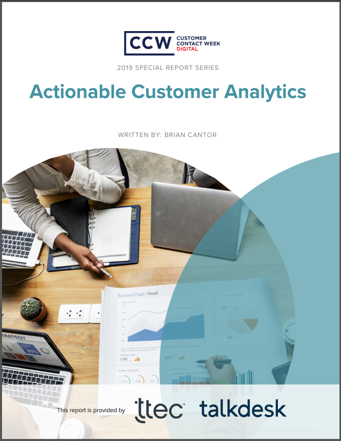 Special Report: Actionable Customer Analytics