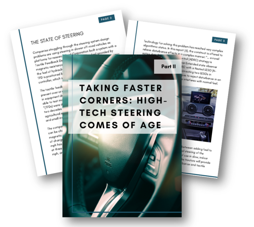Taking faster corners: High-tech steering comes of age - part 2
