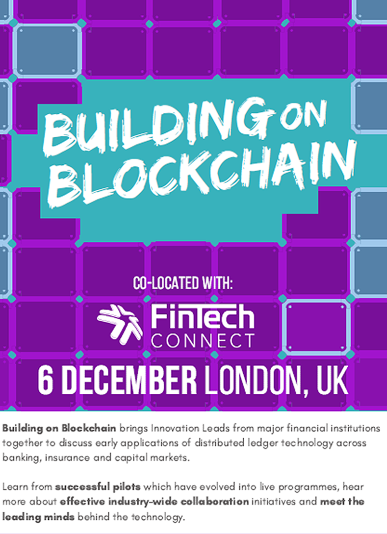 2018 Building on Blockchain at FinTech Connect