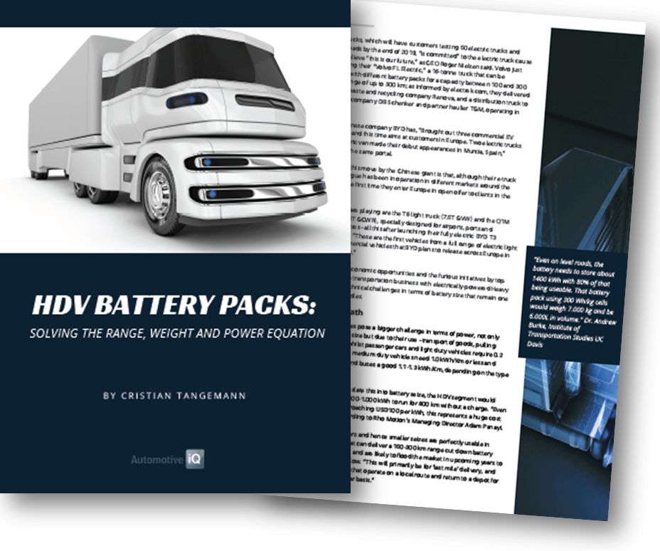 Exclusive Article: HDV Batteries - The Range, Weight and Power Equation