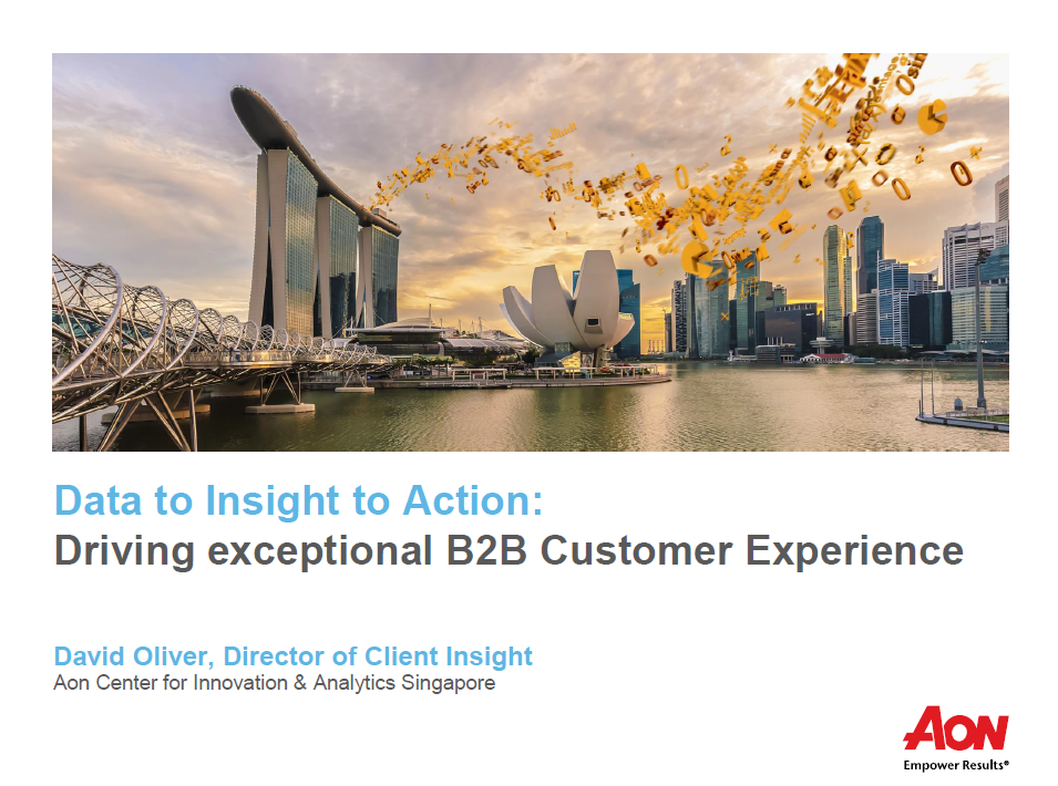 Data to Insight to Action: Driving exceptional B2B Customer Experience