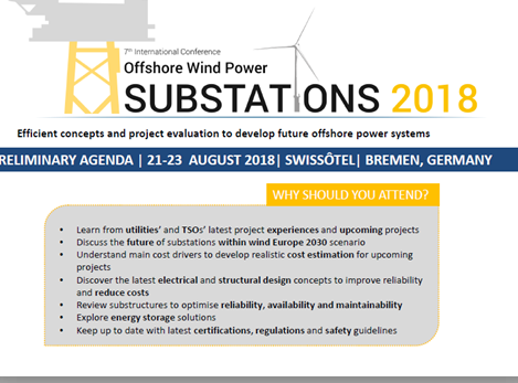 Offshore Substations 2018 Agenda
