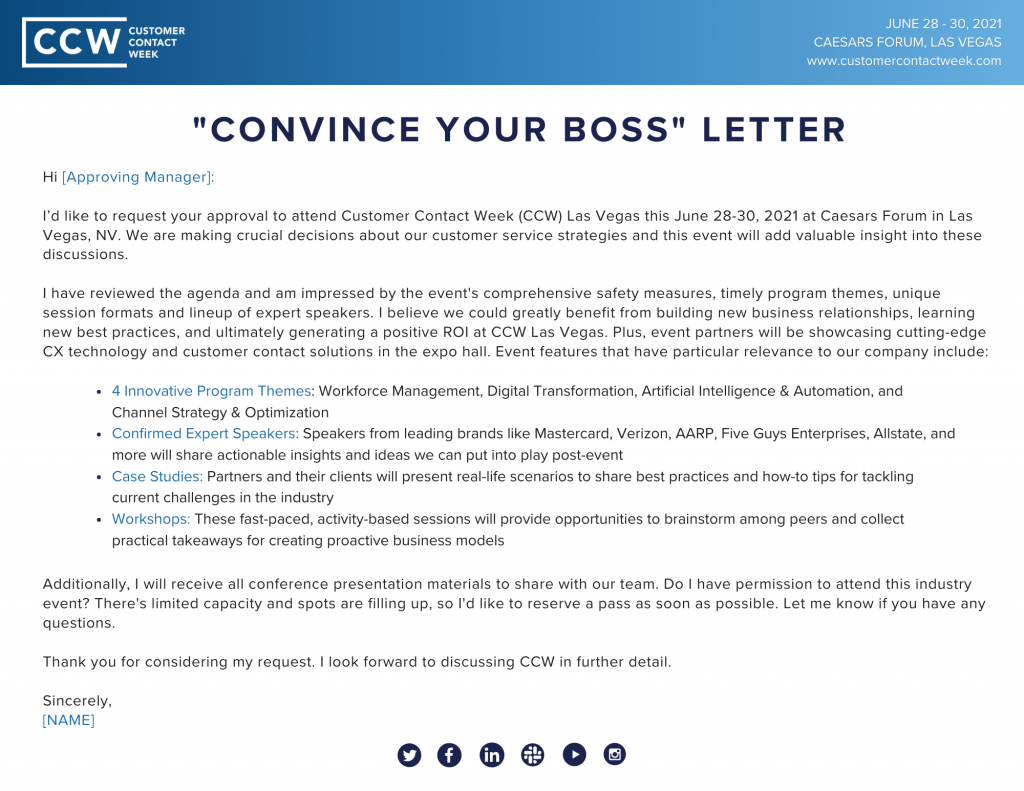 Convince Your Boss Letter