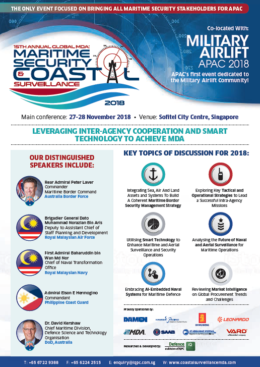 View the Full Event Outline for Maritime Security & Coastal Surveillance Asia 2018