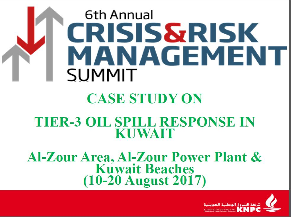 KNPC's presentation of case study on'Tier-3 Oil Spill Response in Kuwait
