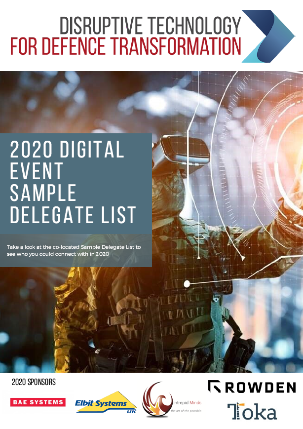 2020 Attendee List | Disruptive Technology for Defence Transformation Digital