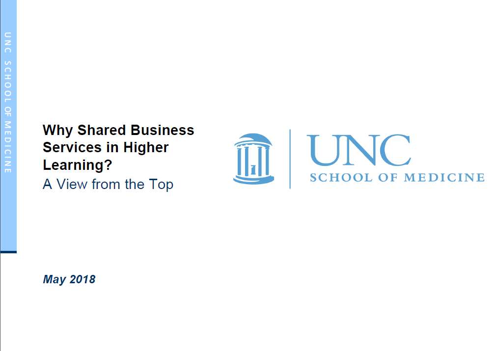 Why Shared Business Services in Higher Learning?