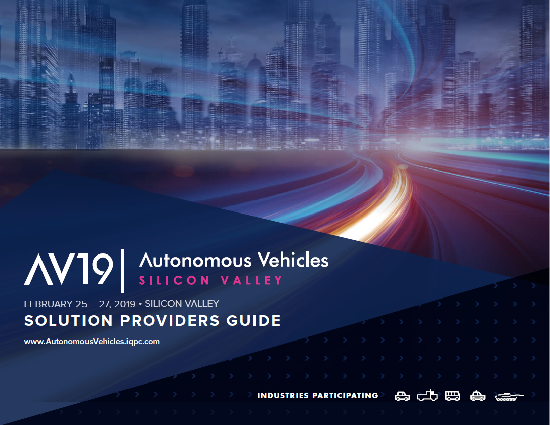 2019 Autonomous Vehicles Solution Providers Guide