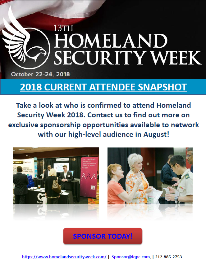 2018 Homeland Security Week -  Current Attendee SnapShot