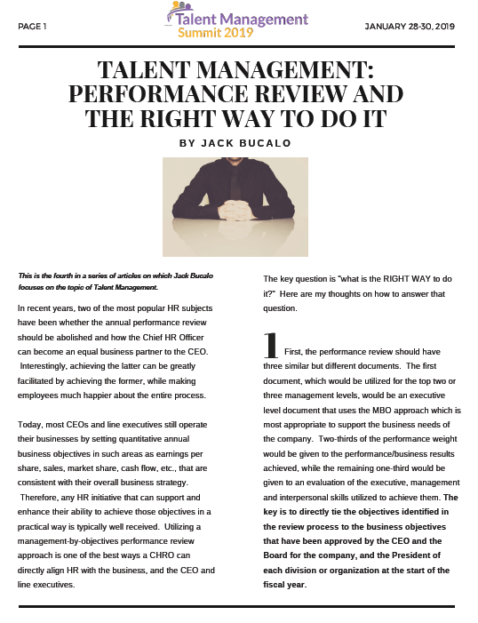 Talent Management: Performance Review and The Right Way to do it