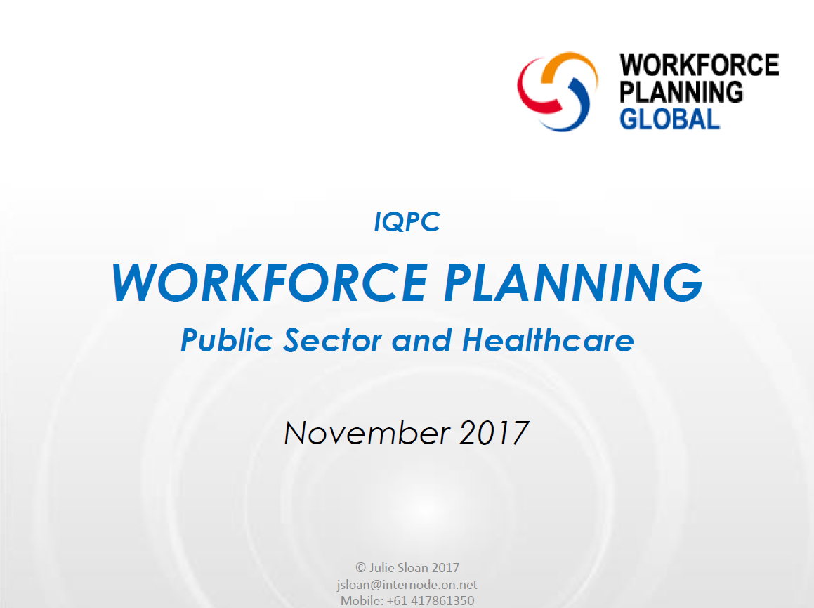 International Accreditation on Workforce Planning: Public Sector and Healthcare