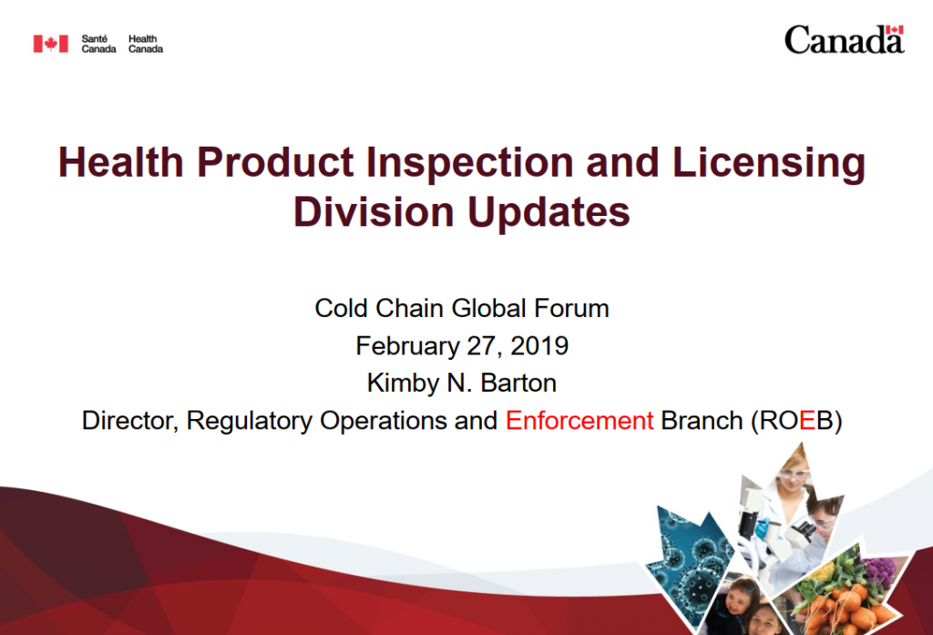 Updates from the Health Product Compliance Directorate