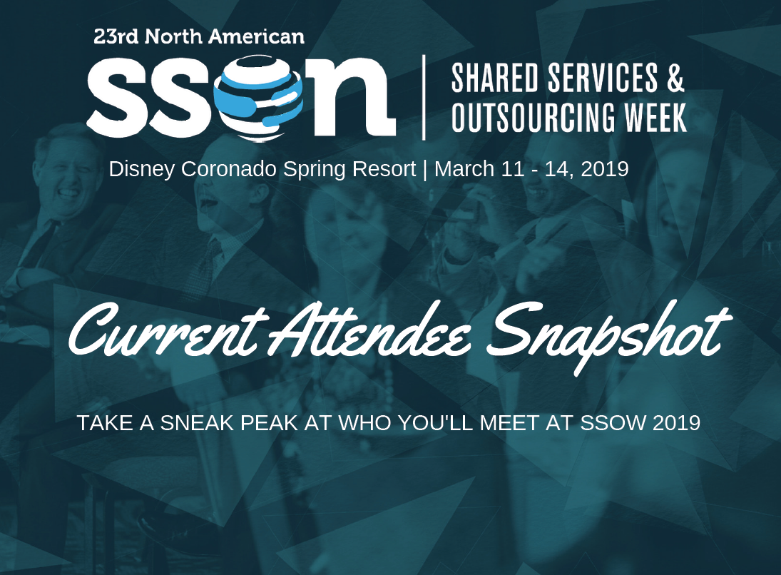 SSOW 2019 Current Attendee Snapshot