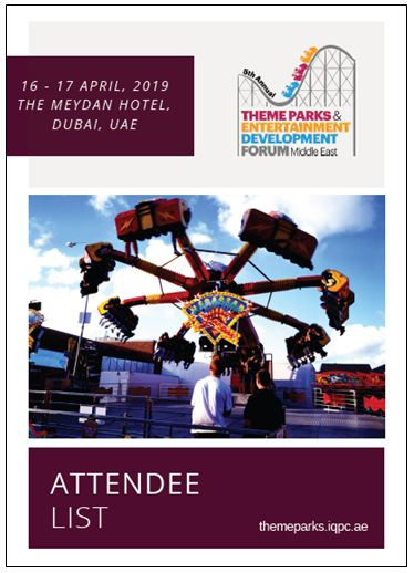 See Who Will Be Attending The 5th Annual Theme Parks and Entertainment Middle East