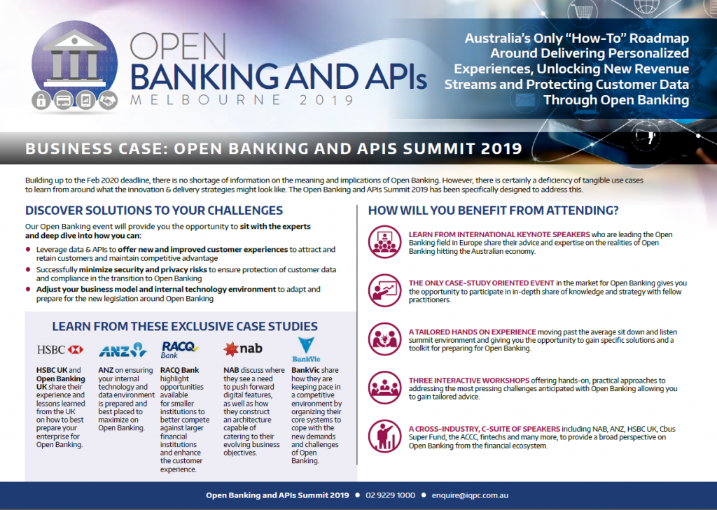 Open Banking & APIs Summit: Business Case