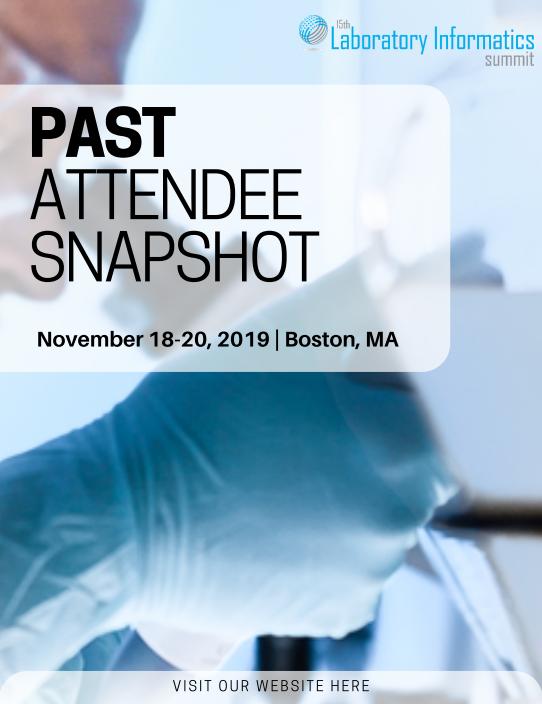 15th Laboratory Informatics - Past Attendee Snapshot