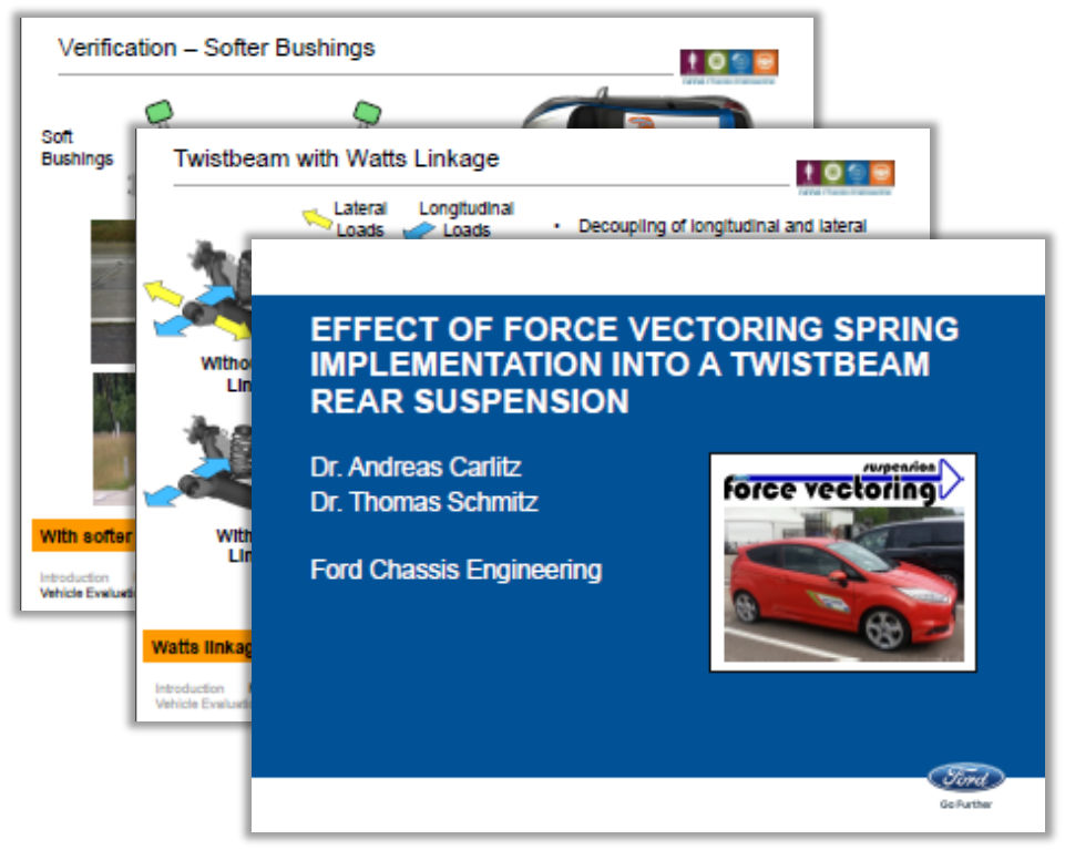 Ford Presentation: Force Vectoring Spring Implementation into a Twistbeam Suspension