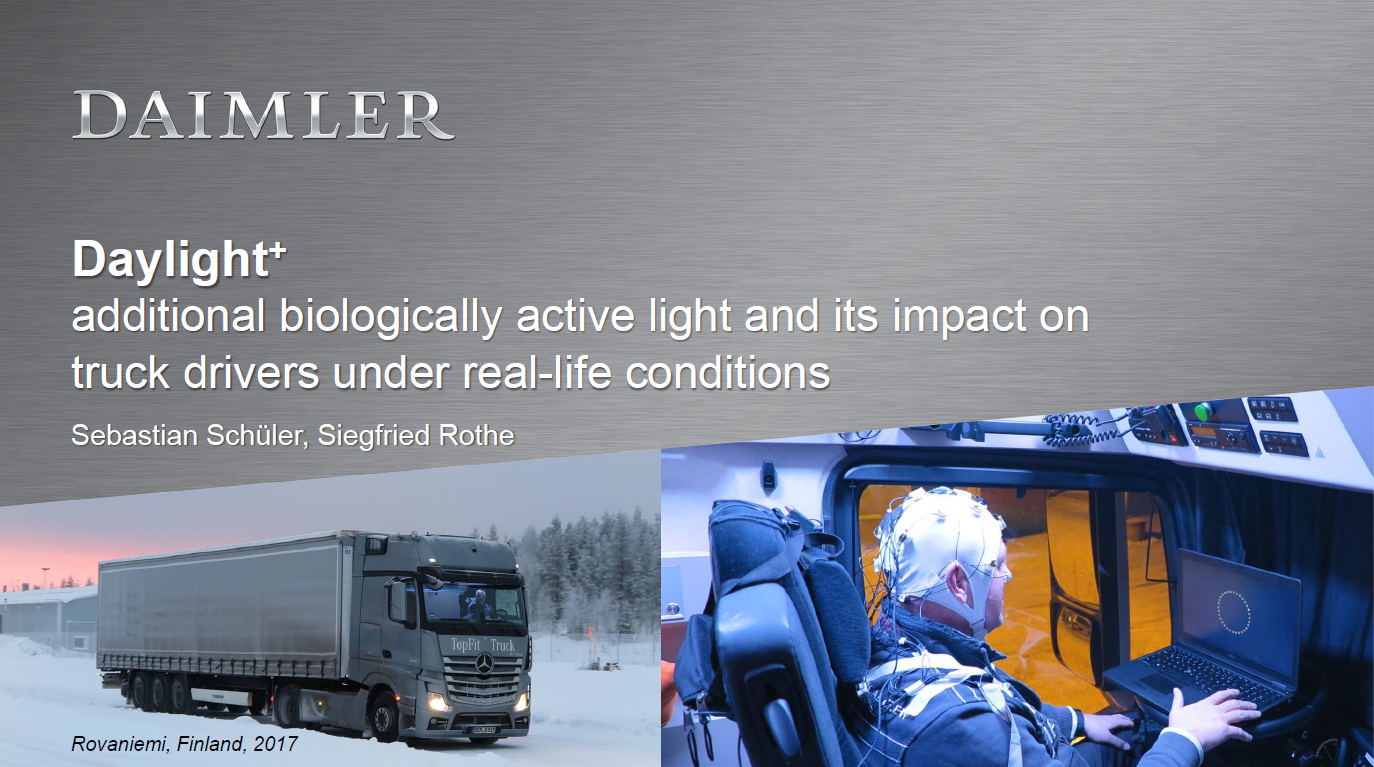 Daimler Presentation on the Future of Interior Automotive Lighting