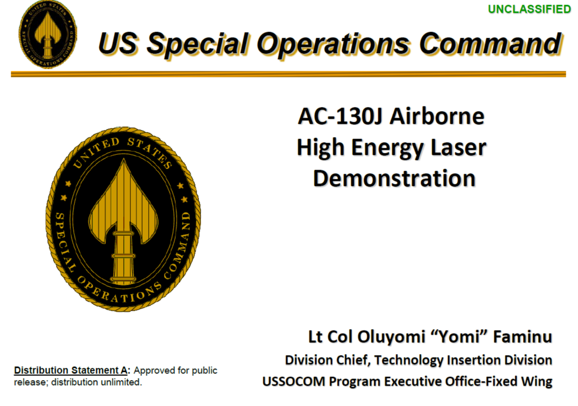 AFSOC Airborne High Energy Laser Initiative