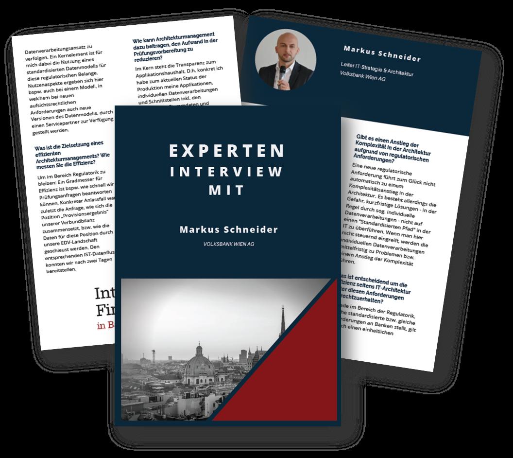 Experteninterview mit dem Leiter IT-Strategie & Architektur von der Volksbank Wien AG