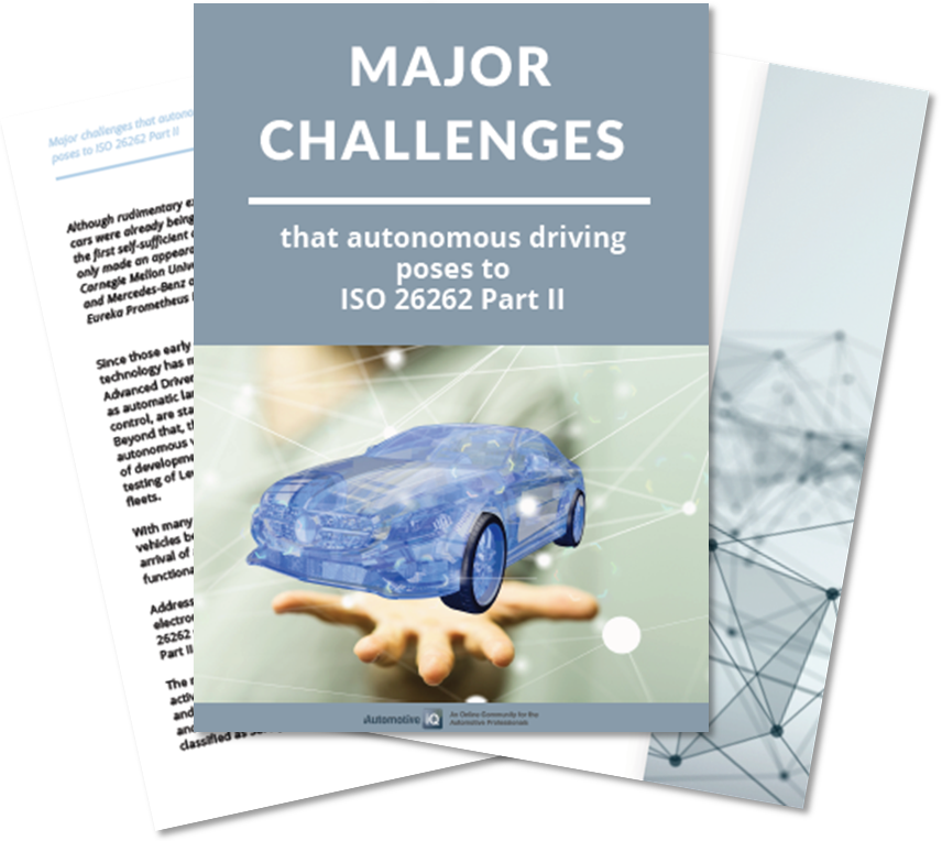 Article on challenges of autonomous driving posed to ISO 26262 Part II