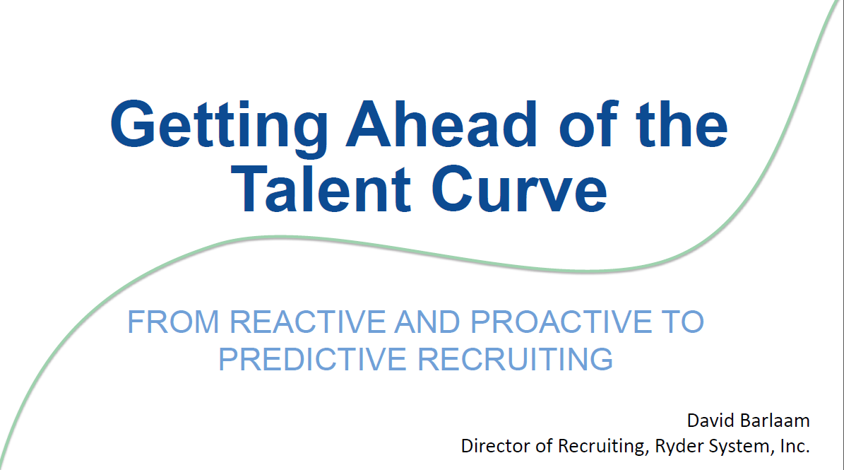 Getting Ahead of the Talent Curve: From Reactive and Proactive to Predictive Recruiting