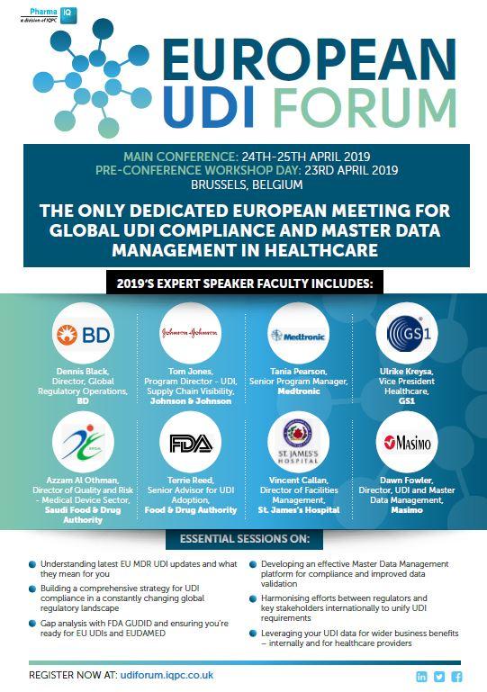 European UDI Forum 2019 Brochure - SPEX