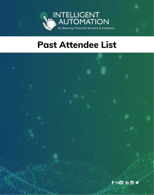 Intelligent Automation for BFSI: Past Attendee List for Sponsorship
