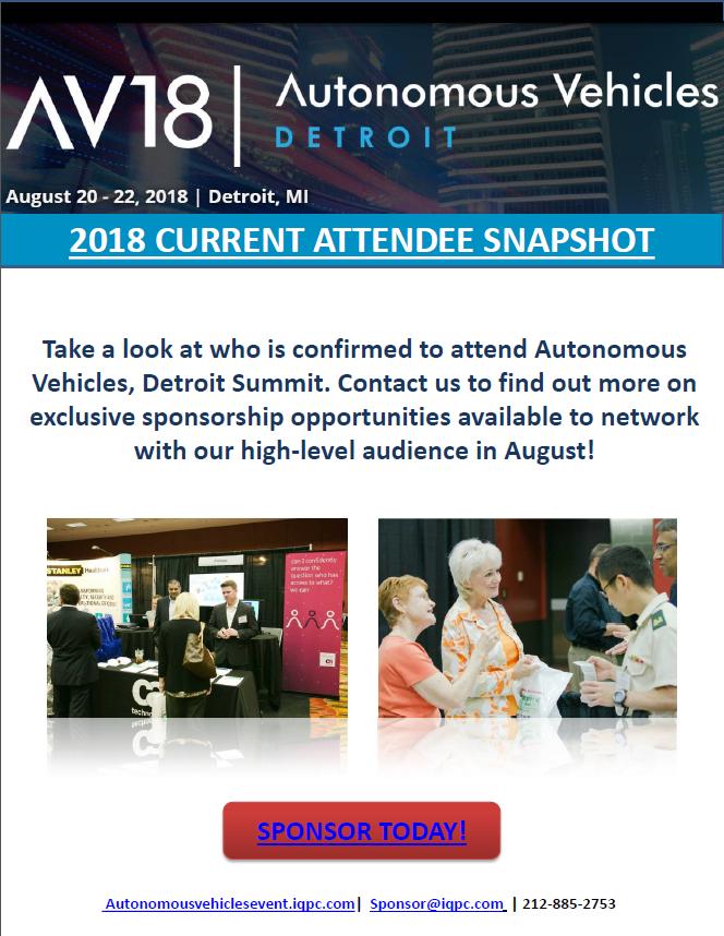 Autonomous Vehicles Detroit 2018 - Current Attendee List