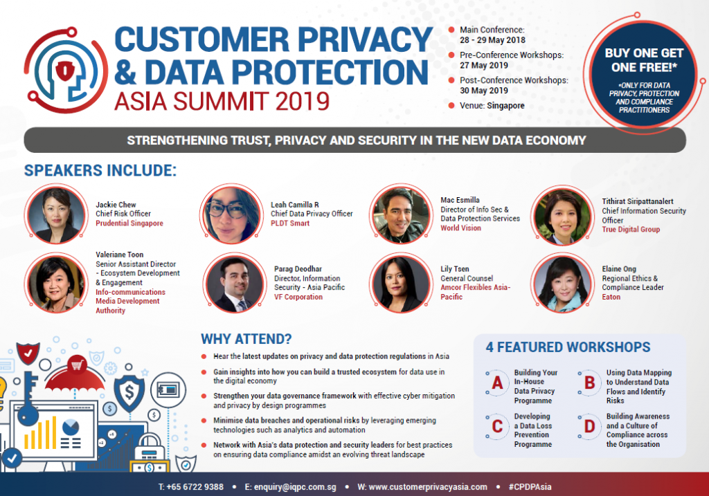 Programme Agenda: Customer Privacy & Data Protection Asia Summit 2019