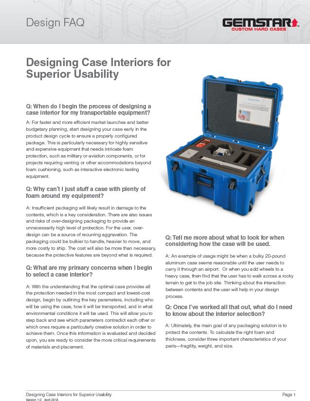 Designing Case Interiors for Superior Durability