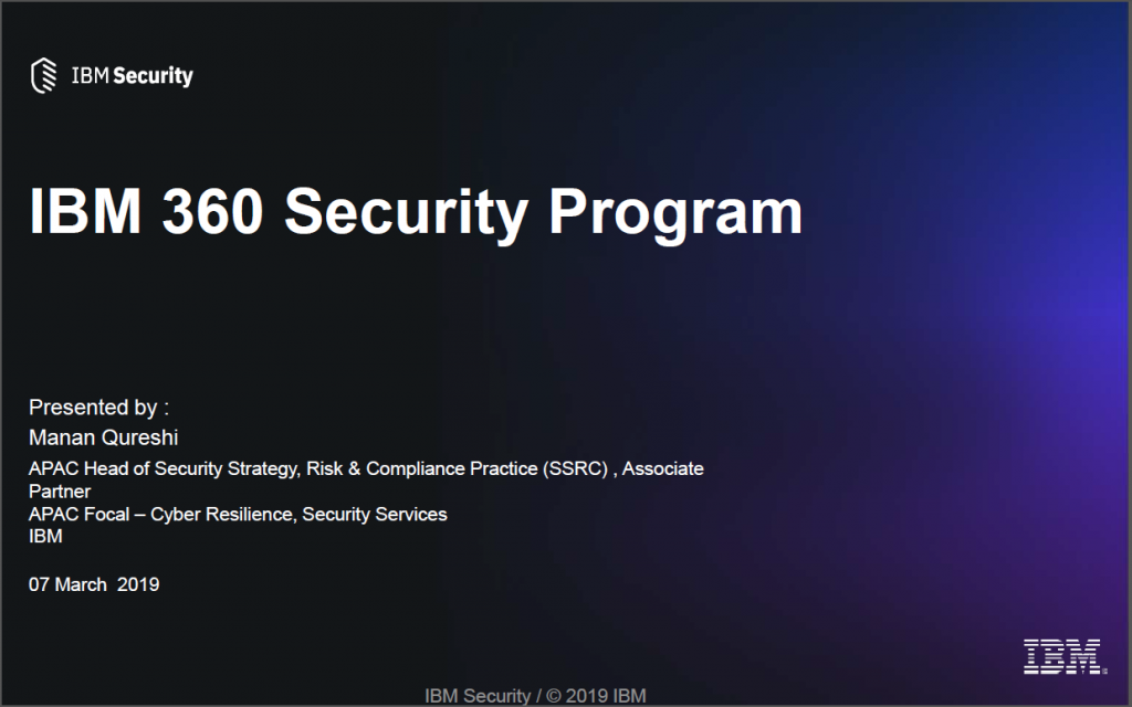 Read the Past Presentation - IBM 360 Security Program