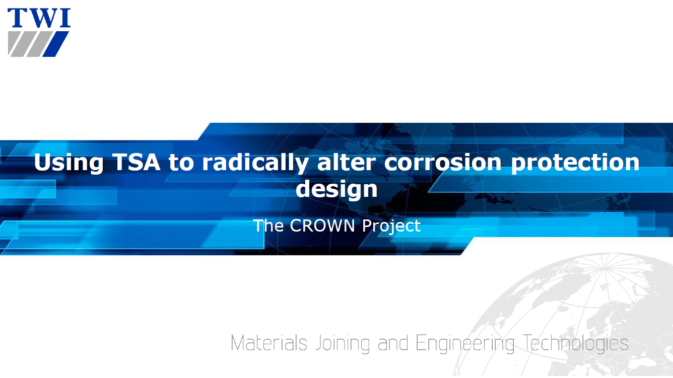 Presentation on Using Thermally Sprayed Aluminium to Radically Alter Corrosion Protection Design