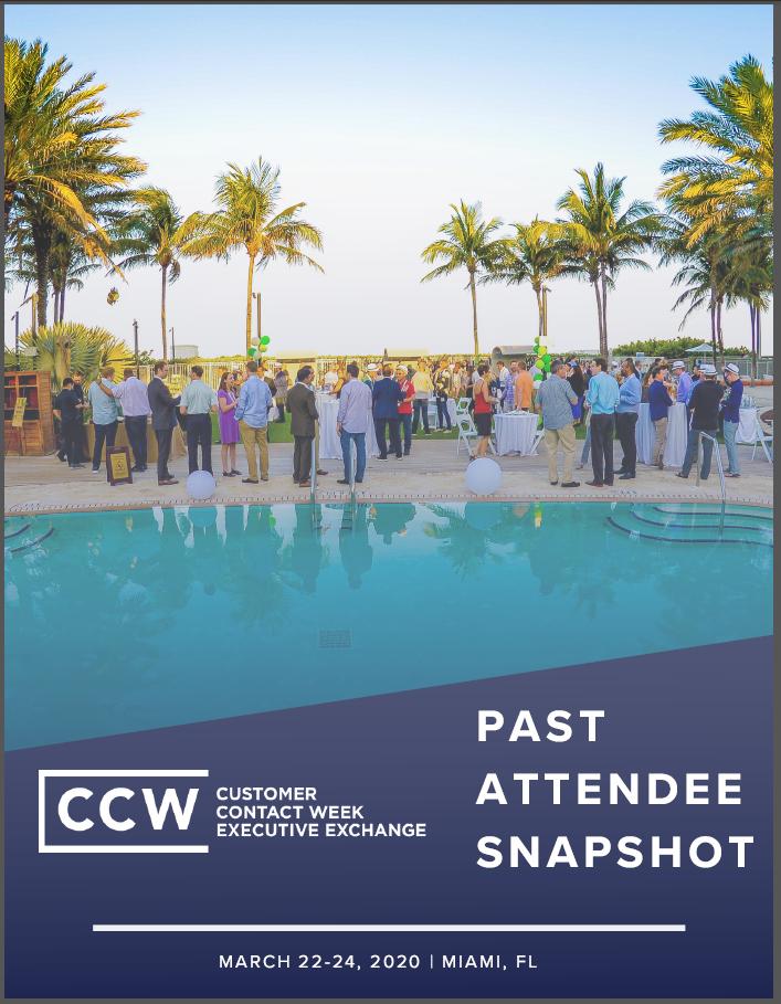 2019 Past Attendee Snapshot | CCW Executive Exchange Miami