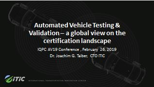 Automated Vehicle Testing & Validation