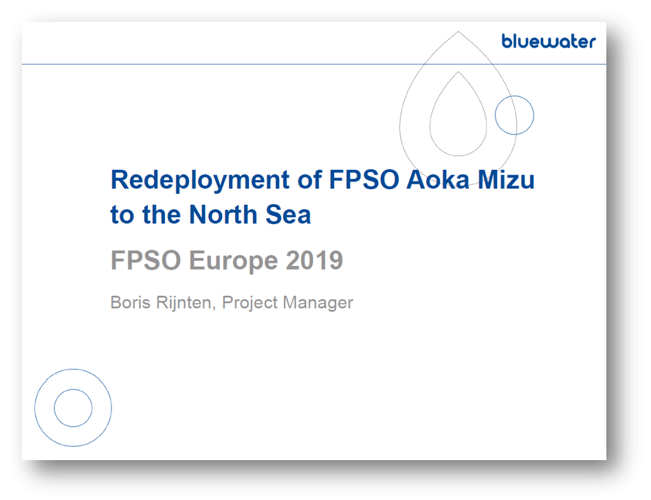Redeployment of FPSO Aoka Mizu to the North Sea