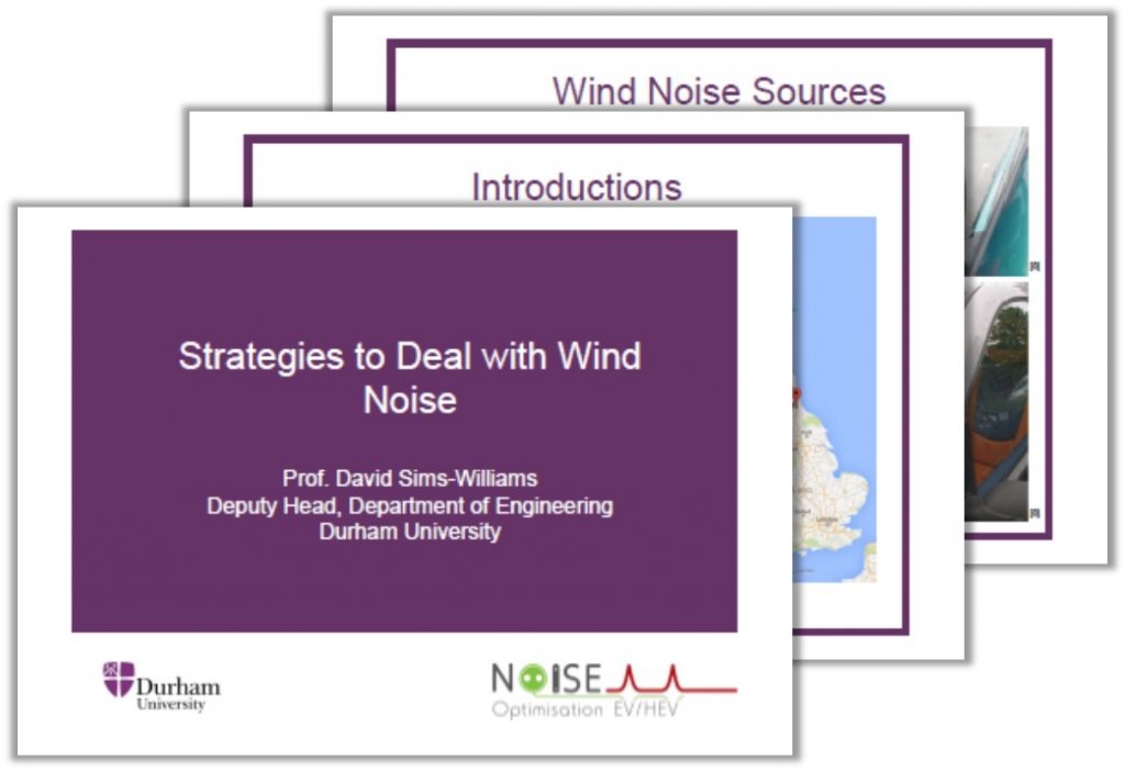 Durham University Presentation on Strategies to Deal with Wind Noise