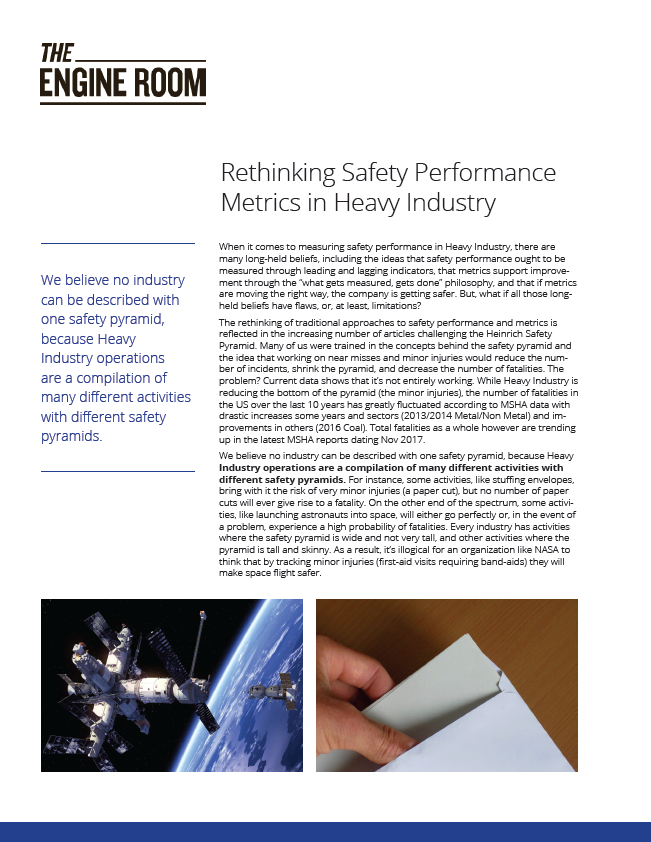 Rethinking Safety Performance Metrics in Heavy Industry