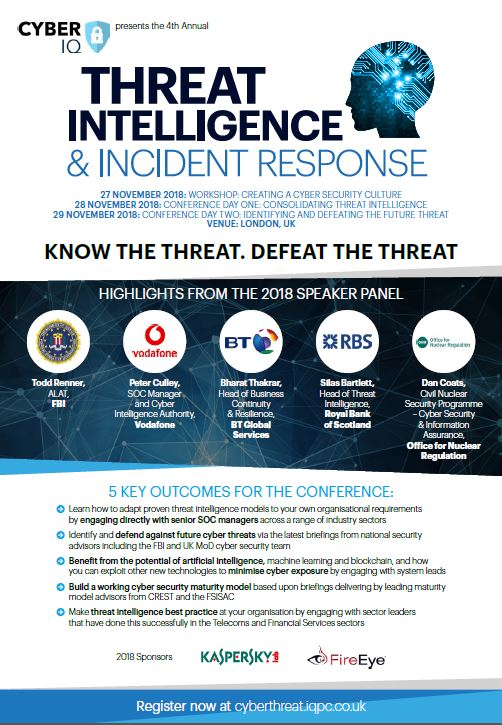 Threat Intelligence Agenda 2018