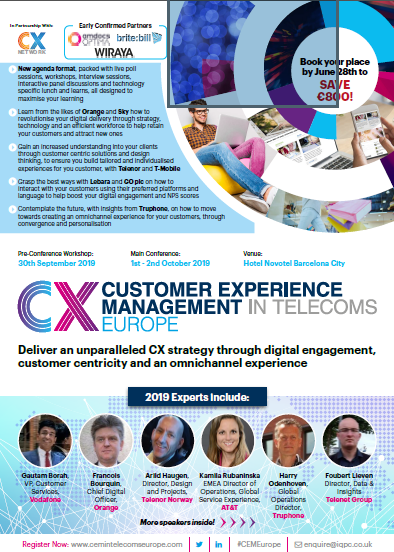 CEM in Telecoms Europe - Discover the 2019 Agenda