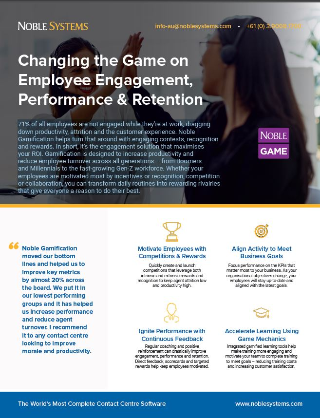 Changing the Game on Employee Engagement, Performance & Retention