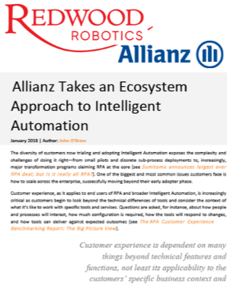 SSOW Autumn 2019 - spex - Allianz Intelligent Automation